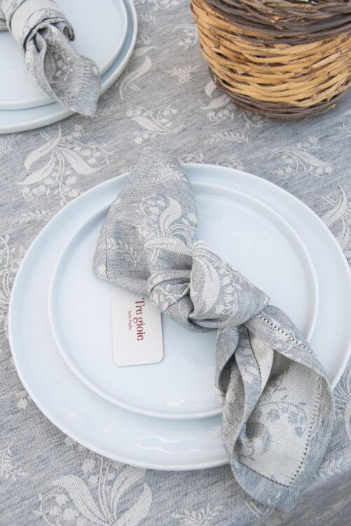 Mughetto blue napkin detail